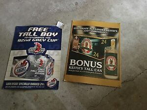 Man Caves,Cardboard Beer Advertising Posters