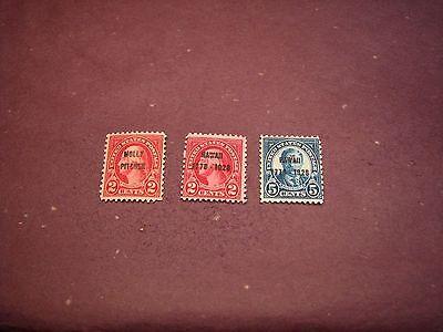 US Stamp Scott# 646-648 Overprint  1928  MNH  C310