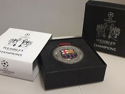 Oficial medalla uefa champions league final wembley 2011 fc barcelona messi