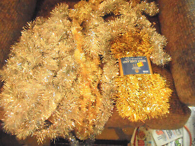 VTG  Garland Silver & Gold Tinsel approx 30 Ft