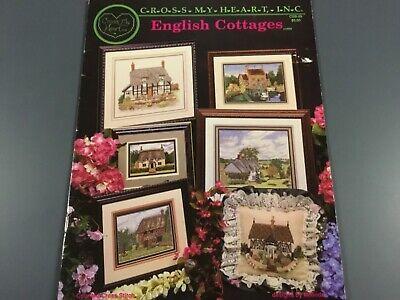 ENGLISH COTTAGES Cross Stitch Pattern 6 Designs Rose Cottage, Mill House Designer Rose Cross