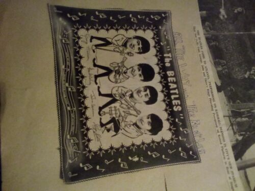 vintage beatles candy dish loot  tray advertisement scrapbook page