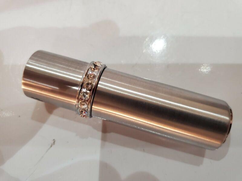 Vintage Working COLIBRI Lighter Lipstick, Rhinestones & Silver. 3164.36