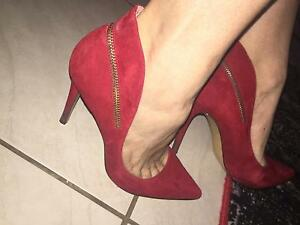 Nine West Red Suede Shoes size 8 Cairns Cairns City Preview