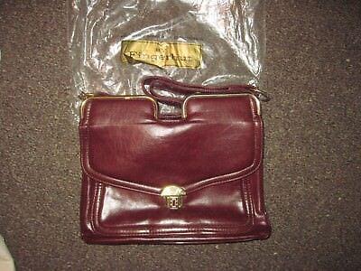 Fingerhut Shoulder Handbag  Burgundy  Neat Vintage Closure  Looks Unused