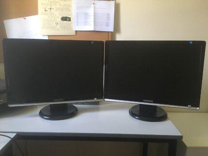 Dual Samsung Computer Monitors