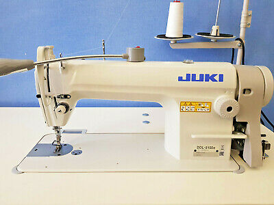 JUKI DDL-8100E INDUSTRIAL SEWING MACHINE COMPLETE WITH STAND, TOP & SERVO MOTOR