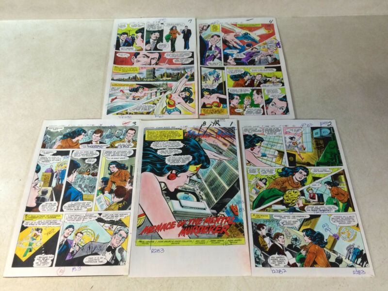 WONDER WOMAN #255 original art color guides RARE FULL COMIC 17 PGS, ONE OF KIND