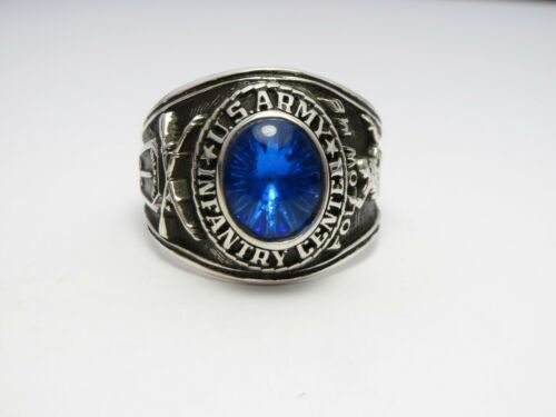 @ SILVER 925 ring , ARMY INFANTRY CENTER , FOLLOW ME , US ARMY RING , SIZE 9