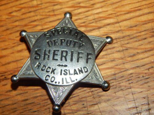 ANTIQUE SPECIAL DEPUTY SHERIFF ROCK ISLAND COUNTY ILLINOIS IL POLICE