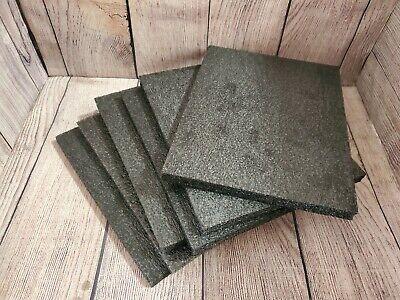 Lot Of 6 Foam Sheet 10x 8x 0.5 Thick Black Pe Packing Shipping Firm