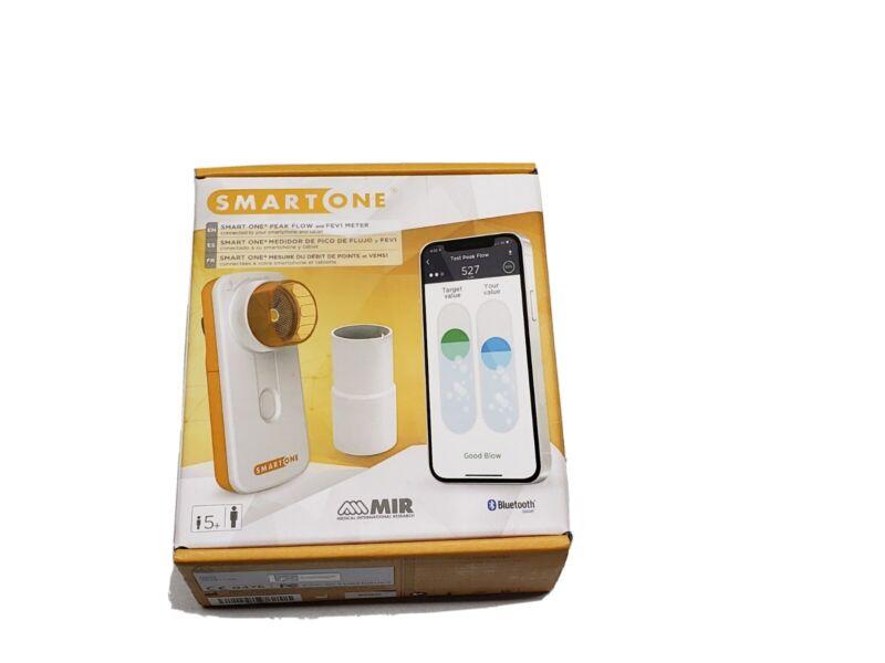 MIR SmartOne Peak Personal Spirometer Peak Flow and FEV1 Meter Bluetooth