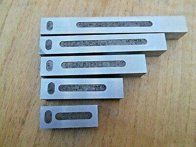 Machinist Made Space Blocks Gage Blocks 2 3 4 5 34 X 34 Nom.