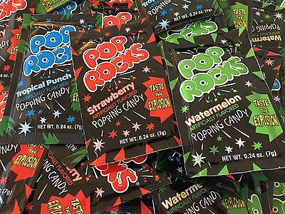 24 Packs POP ROCKS POPPING CANDY ASSORTED FLAVORS BEST PRICE FUN KIDS PARTY ](Pop Rocks Candy)