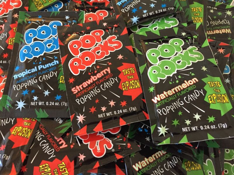 24 Packs POP ROCKS POPPING CANDY ASSORTED FLAVORS FUN PARTY RETRO CANDY POPS FUN