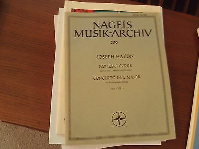 Haydn: Concerto in C Major for organ and strings, FULL SCORE AND PARTS (Nagels)
