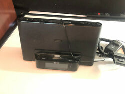 Sony iPhone/iPod Clock Radio Speaker Dock ICF-CS15iP Dream Machine NO REMOTE