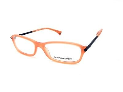 $300 EMPORIO ARMANI WOMENS ORANGE EYEGLASSES FRAMES GLASSES OPTICAL EYE EA 3006