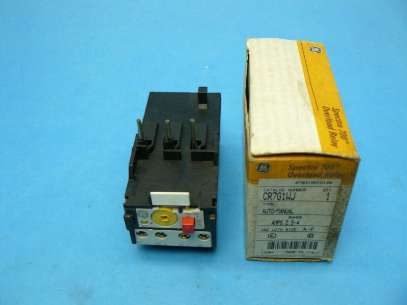 General Electric CR7G1WJ Spectra 700 Overload Relay 2.5-4 Amp New