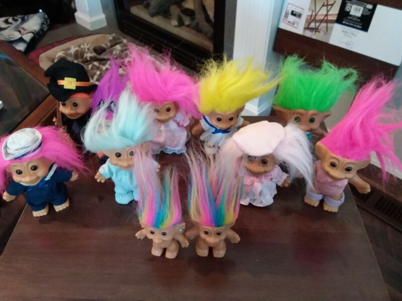 Vintage Russ Berrie Troll Dolls Lot of 11