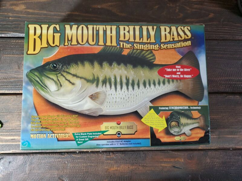 Vintage Big Mouth Billy Bass / The Singing Sensation 1999 NEW IN BOX! SEALED!