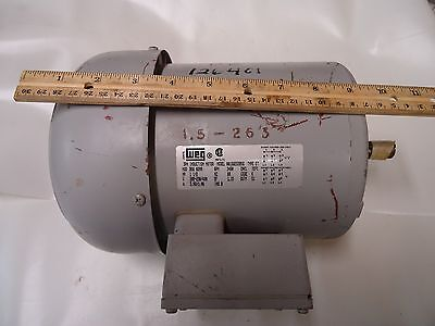 Weg 3ph Induction Motor Type Et Model 00156es3b56 1-12 Hp