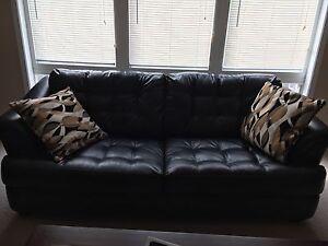 Sofa with 2 throw pillows
