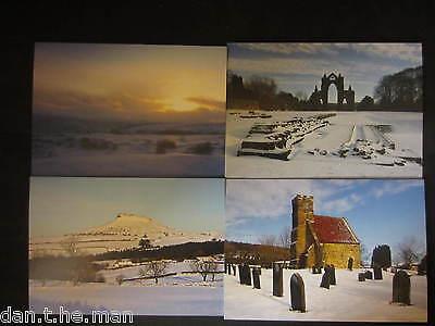 Pack de 4 Tarjetas Navidad, Incluye Guisborough, Cleveland, 4 Diseños por Pack