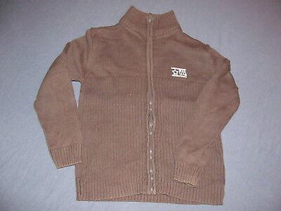 Brauner Baumwoll Pullover mit Reißverschluss Weste Gr122/128 Baumwoll-pullover Weste