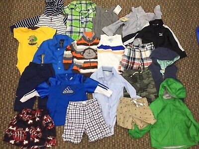 Mixed LOT 19 pcs Baby Boy 9 to 12 months Clothing Shirts Pants One Pc Brand Name