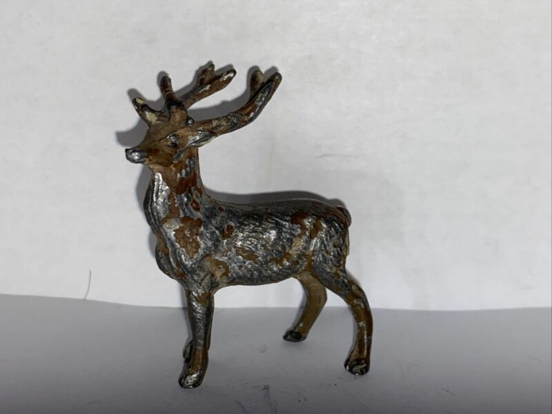 Miniature Lead Reindeer Figurine Japan