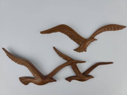 "Vintage 1981 Homco Burwood Seagulls Seashore Birds Wall Decor 10"" & 12"" VGC"