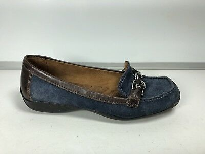 Naturalizer Womens Blue Suede Loafers Size 6.5 -