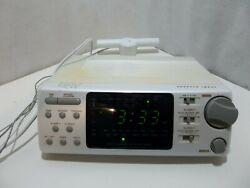 Sharper Image RX 504 Radio Controlled Clock Radio AM/FM Alarm Clock w/ Antena