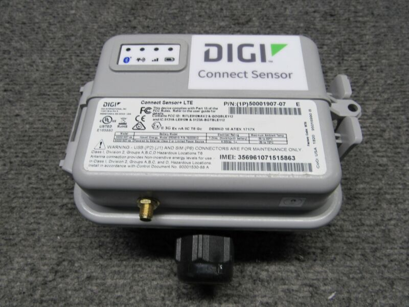 DIGI International Connect Sensor+ LTE 50001907-07 *Tested Working* No Battery