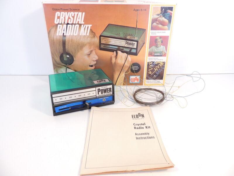 Eldon Power Science Crystal Radio Kit Parts Only Original Box Vintage