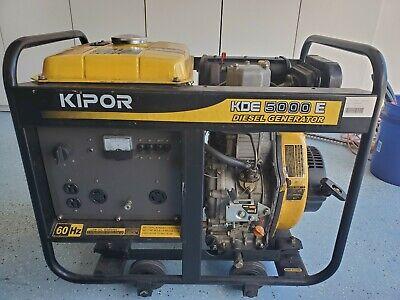 Kipor Diesel Generator Kde5000e Key Electric Start Quiet 5000 Watt Power