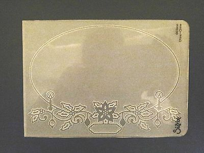 - Sizzix Large Embossing Folder FRAME OVAL CHRISTMAS HOLLY fits Cuttlebug & Wizard