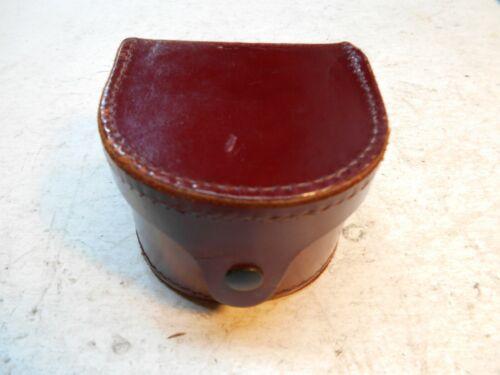 vintage hard leather fly reel case no-5045
