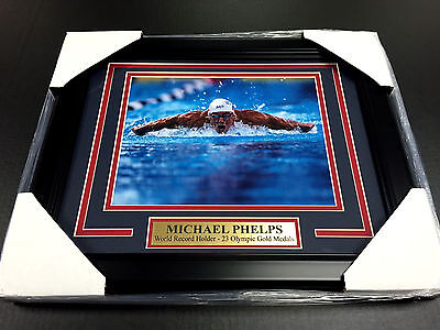 MICHAEL PHELPS OLYMPIC 23 GOLD MEDALS RECORD FRAMED 8X10 PHOTO USA  - Michael Phelps Olympic Medals