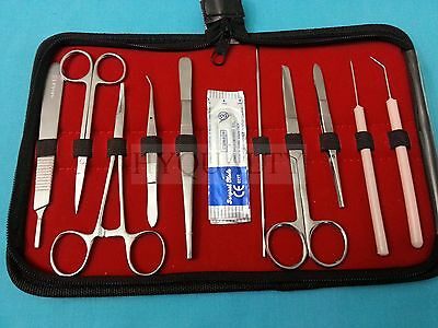 10 Pc Student Dissecting Dissection Medical Lab Instruments Kit Set5 Blades 12