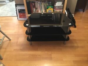 Price Dropped!  Glass TV Stand - 3 shelves