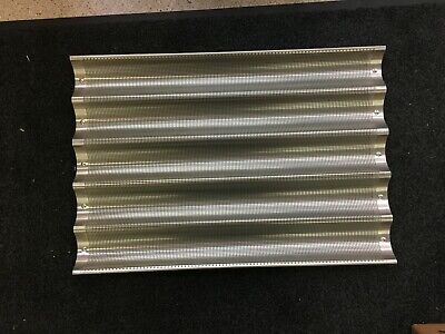 Baguette Pan 5 Mould Per Pan 16 Ga .081 Perforation Open Ends Pop Welded With