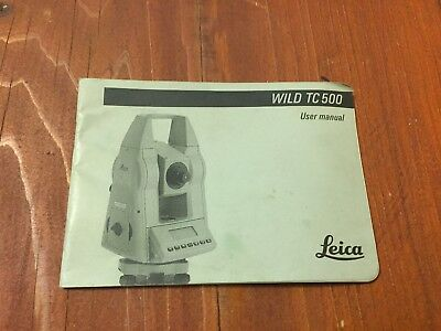 Wild Heerbrugg Leica Tc500 Total Station User Manual