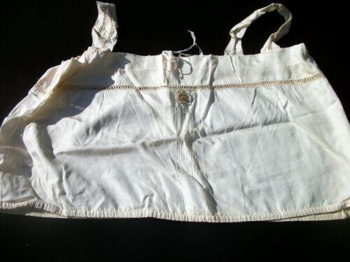 Camisole Corset Cover Cream Color Antique Edwardian Victorian Damage