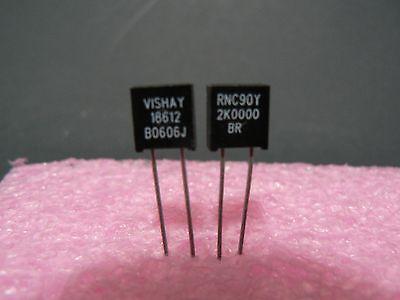 4 Pcs. Rnc90y Series Vishay Metal Foil Resistor Rnc90y2k0000br Us Seller