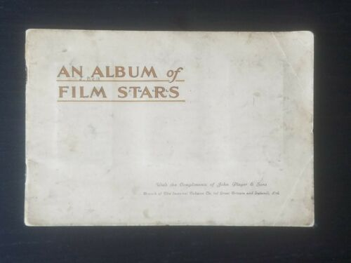 Vintage AN ALBUM of FILM STARS John Player Cigarettes Card Album Complete