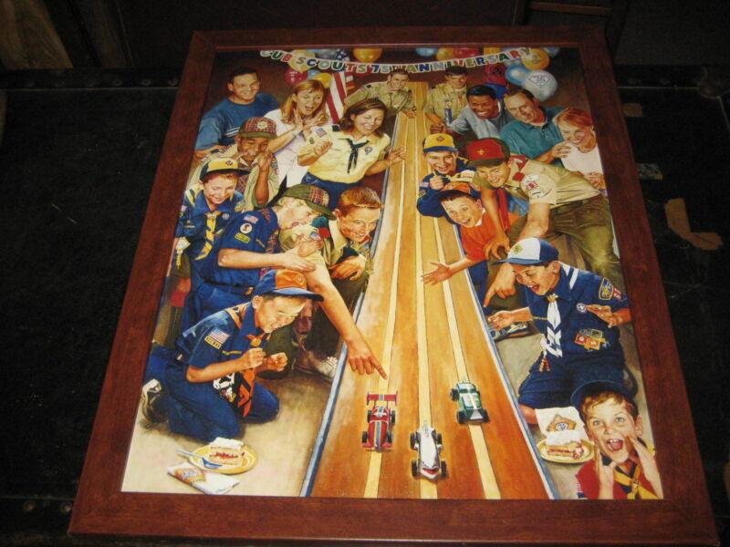 Joe Csatari Cub Scouting 75th Anniversary Framed Print
