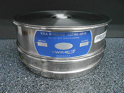 Vwr 57334-586 No.140 U.s.a Standard Testing Sieve 106 M 0.0041 Pan Cover
