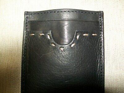 - Rolfs Men Black Leather Money Clip with Front Pocket, 4